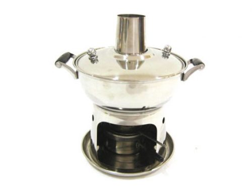 Stainless Steel Mini Steamboat with Chimney (Non-detachable)