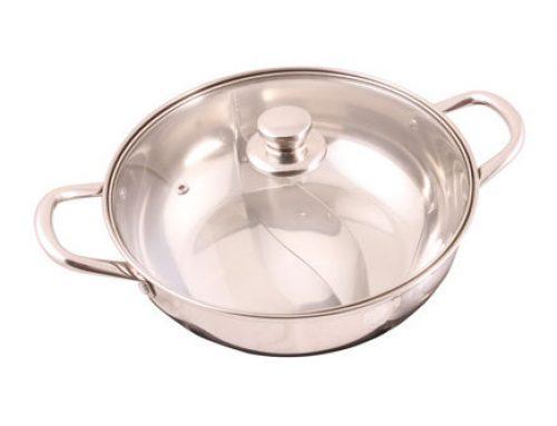 Stainless Steel Shabu Shabu / Hot Pot with Glass Lid